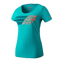 Dynafit Graphic - T-Shirt sport di montagna - donna, Blue/Orange