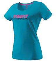 Dynafit Graphic - T-Shirt sport di montagna - donna, Light Blue/Pink