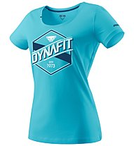 Dynafit Graphic - T-Shirt sport di montagna - donna, Light Blue/Blue/White