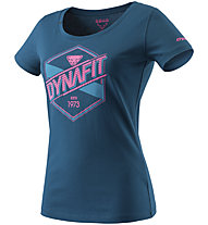 Dynafit Graphic - T-Shirt sport di montagna - donna, Blue/Pink/Light Blue