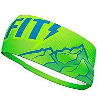 Dynafit Graphic Performance - fascia paraorecchie, Fluo Green/Blue