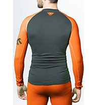 Dynafit Innergy Performance - Langarm Funktionsshirt - Herren, Grey/Orange