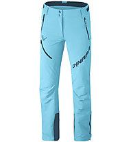 Dynafit Mercury 2 Dynastretch - pantaloni softshell - donna, Light Blue/Dark Blue/White