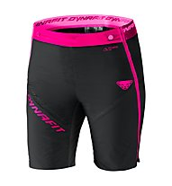 Dynafit Mezzalama 2 PTC - pantaloni corti sci alpinismo - donna, Black/Neon Pink