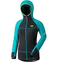 Dynafit Mezzalama Race - giacca in pile sci alpinismo - donna, Light Blue/Black