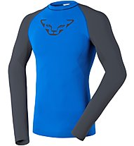 Dynafit Performance Dryarm - Langarm-Funktionsshirt - Herren, Blue/Grey
