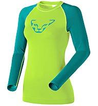 Dynafit Performance Dryarn - maglia a maniche lunghe sci alpinismo - donna, Green