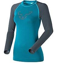 Dynafit Performance Dryarn - maglia a maniche lunghe sci alpinismo - donna, Blue/Grey