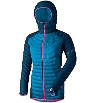 Dynafit Radical Dwn - giacca in piuma - donna, Dark Blue/Light Blue/Pink