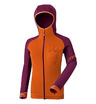 Dynafit Radical Polartec® - Fleecejacke mit Kapuze - Damen, Purple/Orange