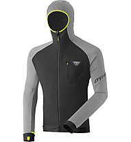 Dynafit Radical Polartec® - felpa in pile con cappuccio - uomo, Grey/Black/Yellow
