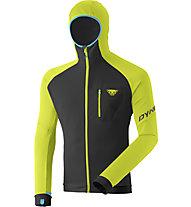 Dynafit Radical Polartec® - felpa in pile con cappuccio - uomo, Black/Yellow/Blue