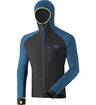 Dynafit Radical Polartec® - felpa in pile con cappuccio - uomo, Black/Blue/Yellow