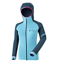 Dynafit Radical Polartec - Fleecejacke mit Kapuze - Damen, Navy/Light Blue/Pink