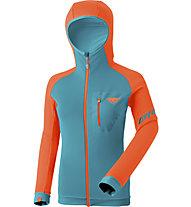 Dynafit Radical Polartec® - Fleecejacke mit Kapuze - Damen, Light Blue/Orange