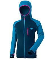 Dynafit Radical PTC - giacca in pile - donna, Dark Blue/Light Blue/Pink