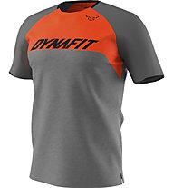 Dynafit Ride - T-Shirt - Herren, Grey/Dark Orange
