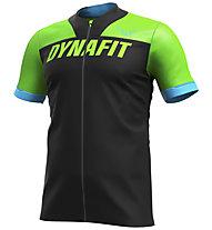 Dynafit Ride Full Zip - Trailrunningshirt - Herren, Black/Green/Light Blue