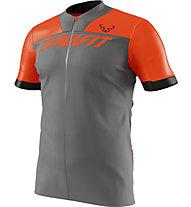 Dynafit Ride Full Zip - Trailrunningshirt - Herren, Grey/Orange