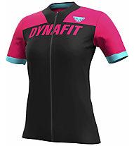 Dynafit Ride Full Zip - maglia trail running - donna, Black/Pink/Light Blue