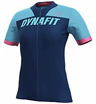 Dynafit Ride Full Zip - maglia trail running - donna, Blue/Light Blue/Pink