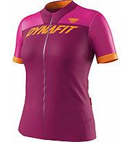 Dynafit Ride Full Zip - maglia trail running - donna, Dark Pink/Pink/Orange