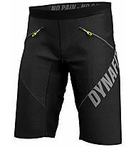Dynafit Ride Light Dynastretch - pantaloni corti MTB/trail running - uomo, Black/Grey/Yellow