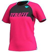 Dynafit Ride Tee - T-Shirt - Damen, Pink/Dark Grey