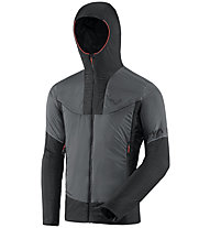 Dynafit Speed Insulation Hooded - giacca in Primaloft - uomo, Dark Grey/Black/Red
