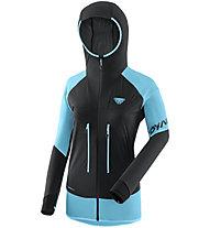 Dynafit Speed Softshell - giacca scialpinismo - donna, Black/Light Blue