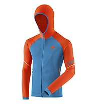 Dynafit Speed Thermal - felpa in pile con cappuccio - uomo, Orange/Blue