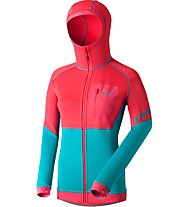Dynafit Thermal Layer 4 - Fleecejacke mit Kapuze Skitour - Damen, Pink/Light Blue