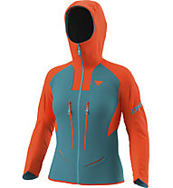 Dynafit TLT Gore-Tex® - Alpinjacke mit Kapuze - Damen, Blue/Orange