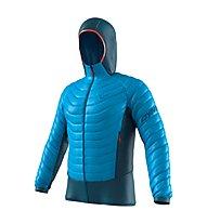Dynafit TLT Light Insulation - giacca imbottita con cappuccio - uomo, Dark Blue/Light Blue/Red