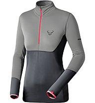 Dynafit Tlt Ptc - Fleecepullover mit kurzem Reißverschluss - Damen, Grey/Dark Grey