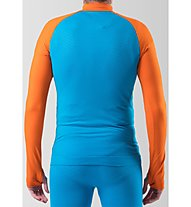 Dynafit Tour Dryarn Merino M 1/2 Zip - Langarmshirt - Herren, Orange/Light Blue