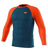 Dynafit Tour Light Merino Longsleeve - maglia tecnica a maniche lunghe - uomo, Dark Blue/Orange