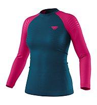 Dynafit Tour Light Merino - maglia tecnica a maniche lunghe - donna, Dark Blue/Pink