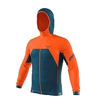 Dynafit Tour Wool Thermal - giacca con cappuccio - uomo, Dark Blue/Orange