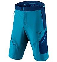 Dynafit Transalper 3 DST - pantaloni corti speed hiking - uomo, Light Blue/Blue