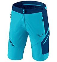 Dynafit Transalper 3 Dynastretch - pantaloni corti speed hiking - donna, Light Blue/Blue