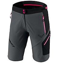 Dynafit Transalper 3 Dynastretch - pantaloni corti speed hiking - donna, Dark Grey/Black/Pink