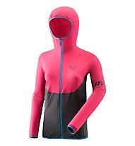 Dynafit Transalper DST - giacca in pile con cappuccio - donna, Black/Pink