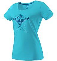 Dynafit Transalper Graphic - T-shirt trekking - donna, Light Blue