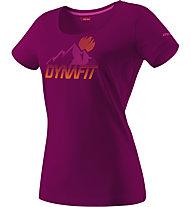 Dynafit Transalper Graphic - T-shirt trekking - donna, Violet/Orange