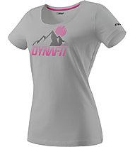 Dynafit Transalper Graphic - T-shirt trekking - donna, Light Grey/Pink