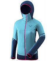 Dynafit Transalper Hybrid Polartec® Alpha® JKT W - giacca isolante - donna, Light Blue/Blue/Pink