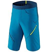 Dynafit Transalper Hybrid - pantaloni corti speed hiking - uomo, Light Blue/Blue/Yellow