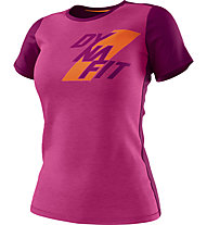 Dynafit Transalper Light - T-Shirt Bergsport - Damen, Pink/Violet/Orange