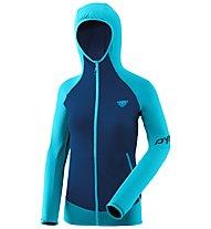 Dynafit Transalper Light Polartec - giacca in pile con cappuccio - donna, Light Blue/Dark Blue